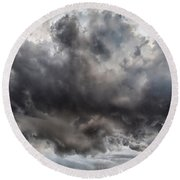 Volcanic Plumes With Poisonous Gases Round Beach Towel