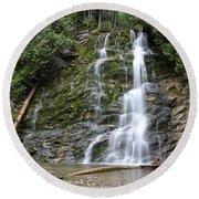 Waterfall, Quebec Round Beach Towel