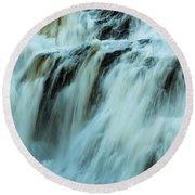 Waterfall Series Round Beach Towel