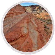 Wave Of Color In Valley Of Fire Round Beach Towel
