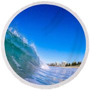 Wave Photo Round Beach Towel