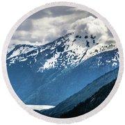 White Pass Mountains In British Columbia Round Beach Towel
