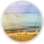 Whitefish Point, Michigan Round Beach Towel