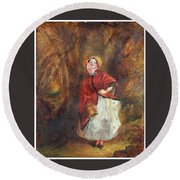 William Powell Frith Round Beach Towel
