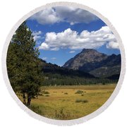 Yellowstone Vista Round Beach Towel