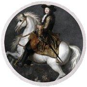 Louis Xiv (1638-1715) Round Beach Towel