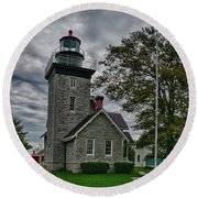 30-mile Point Lighthouse 3197 Round Beach Towel