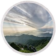 Mountains Round Beach Towel
