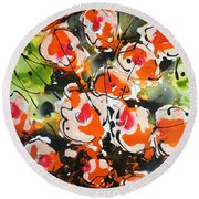 Divine Blooms Round Beach Towel