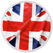 British Flag 6 Round Beach Towel