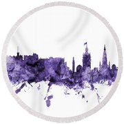 Edinburgh Scotland Skyline Round Beach Towel