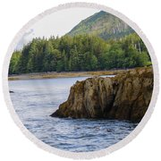 Alaska_00032 Round Beach Towel