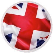 British Flag 7 Round Beach Towel