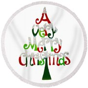 Christmas. Round Beach Towel