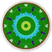 Mandala Ornament Round Beach Towel