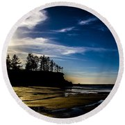 Sunset Bay Beach Round Beach Towel