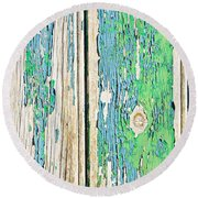 Weathered Wood Round Beach Towel