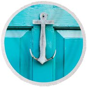 Door Knocker Round Beach Towel