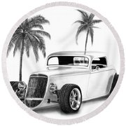 33 Ford Coupe Round Beach Towel