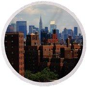 New York City Skyline 3 Round Beach Towel