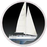 33b Gallant Sailing Round Beach Towel