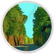 34- Enchanted Highway Round Beach Towel