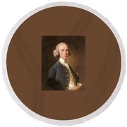 Portrait Of George Hill Sergeant At Law Henry Pickering Round Beach Towel