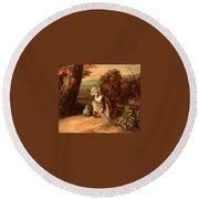 Walton Henry A Country Maid Henry Walton Round Beach Towel
