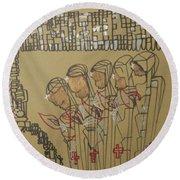 Five Wise Virgins Round Beach Towel