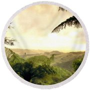 Picture Of Landscape Round Beach Towel