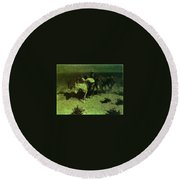 35427 Frederick Remington Round Beach Towel