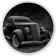 36 Ford Five Window Round Beach Towel