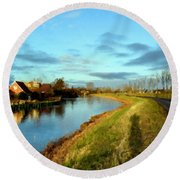 Landscape Pictures Round Beach Towel