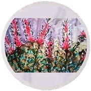 Divine Blooms Round Beach Towel