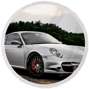 360 Forged Porsche 997tt 2 Round Beach Towel