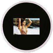 Eva Mendes Round Beach Towel