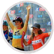 Fearless Femme Racing Round Beach Towel