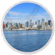 Seattle Skyline Round Beach Towel
