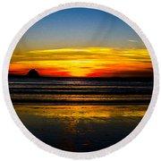 Sunset Bay Beach Round Beach Towel