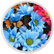 ,, Flowers ,, Round Beach Towel