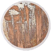 Rusty Metal Round Beach Towel