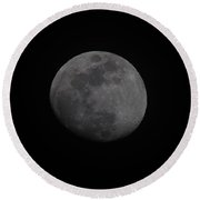 Waxing Gibbous  Round Beach Towel
