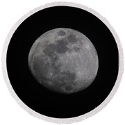 Near Side Of The Moon Round Beach Towel