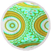 3d Candy Circles  Round Beach Towel