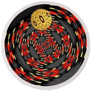 3d-concentric Planet  Round Beach Towel