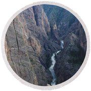 3d10307 Narrows View On North Rim  Round Beach Towel