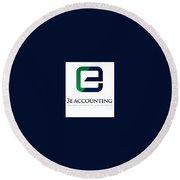 3e Accounting Pte Ltd Round Beach Towel