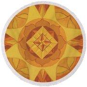 3rd Mandala - Solar Plexus Chakra Round Beach Towel