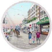 3rd Street Ocean City Md Round Beach Towel