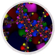 3x1 Abstract 908 Round Beach Towel